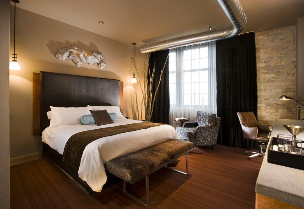 спальня в коричневых тонах интерьер фото