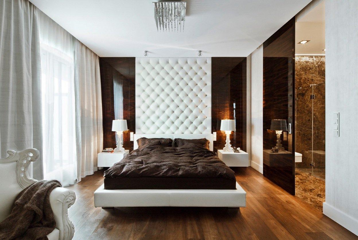 спальня в коричневых тонах интерьер идеи
