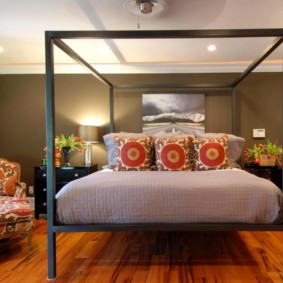 спальня в коричневых тонах виды фото