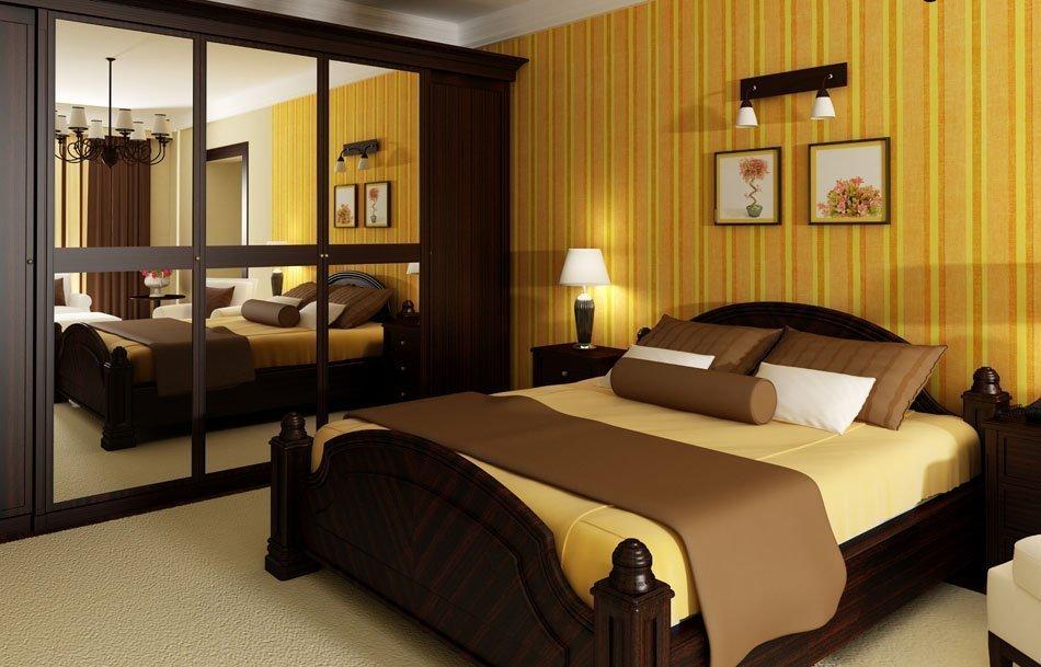 спальня в коричневых тонах декор идеи
