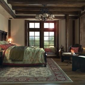 спальня в коричневых тонах дизайн фото
