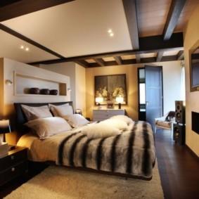 спальня в коричневых тонах дизайн идеи