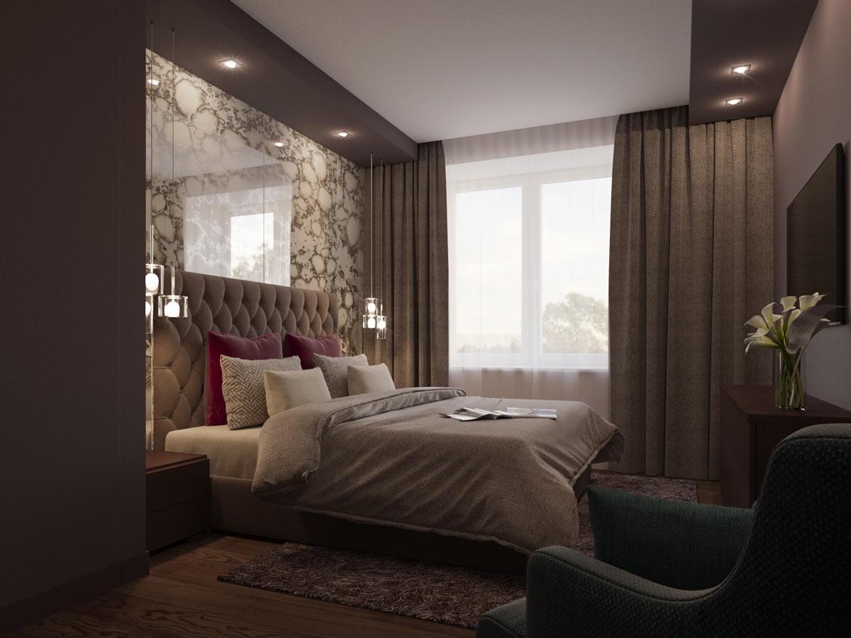 спальня в коричневых тонах фото дизайн