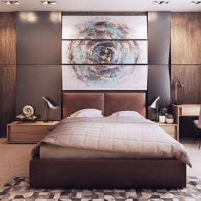 спальня в коричневых тонах фото оформление