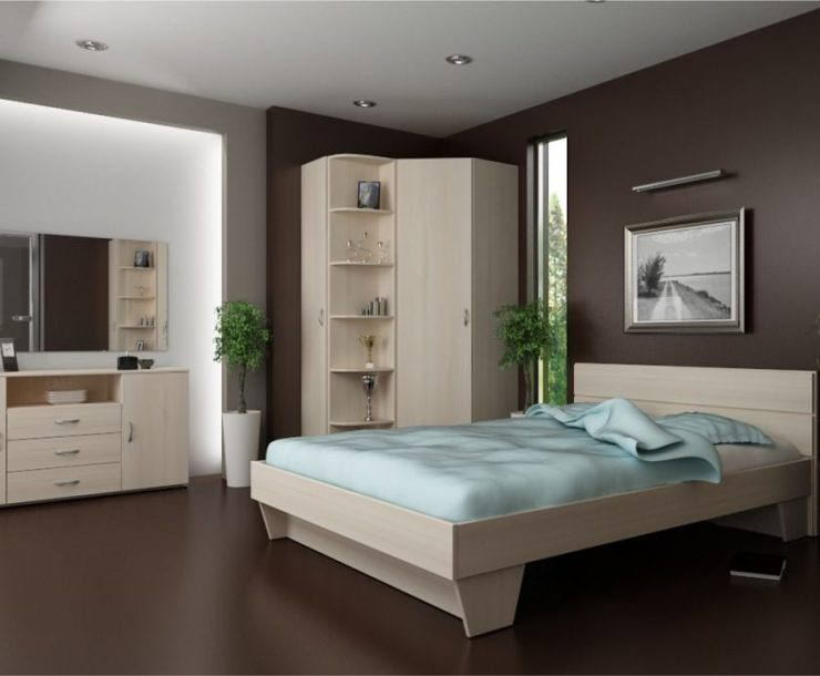 спальня в коричневых тонах фото вариантов