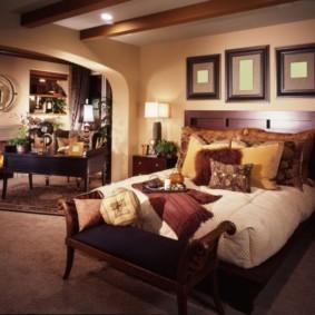 спальня в коричневых тонах фото варианты