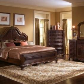 спальня в коричневых тонах фото виды