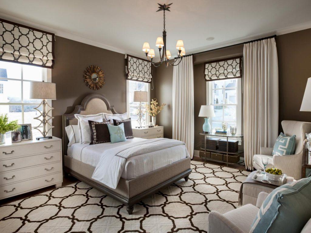 спальня в коричневых тонах идеи декор