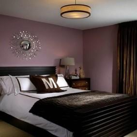 спальня в коричневых тонах идеи фото