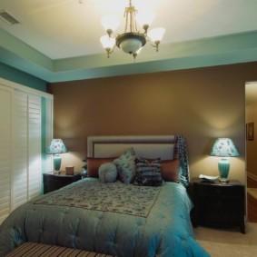 спальня в коричневых тонах идеи интерьер