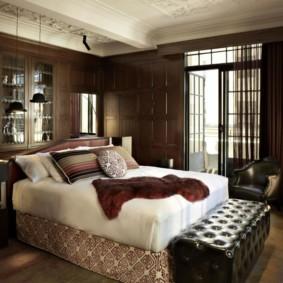 спальня в коричневых тонах идеи интерьера