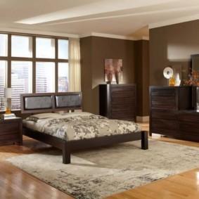 спальня в коричневых тонах идеи видов