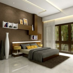 спальня в коричневых тонах идеи виды