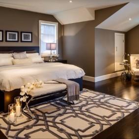 спальня в коричневых тонах оформление фото