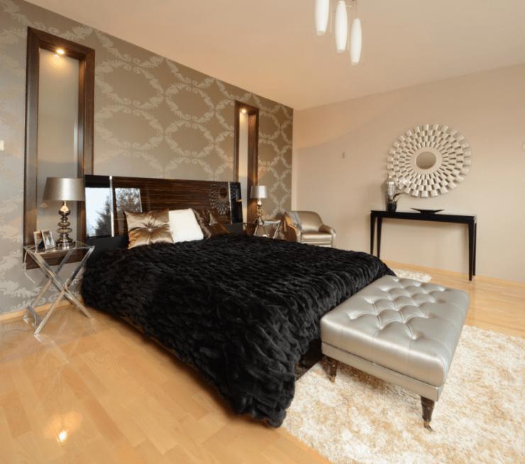 спальня в коричневых тонах варианты