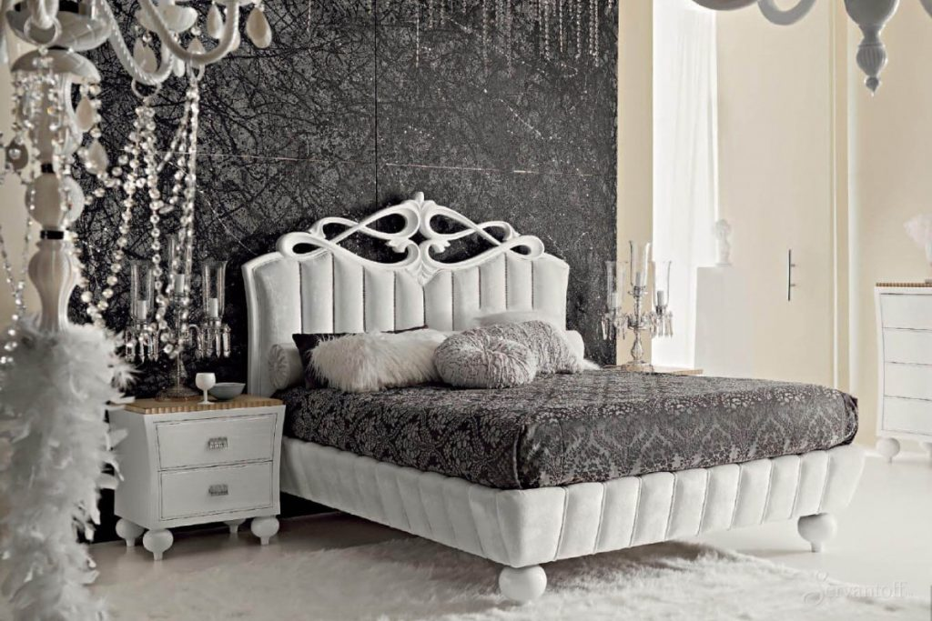 Фото белой спальни в стиле арт деко