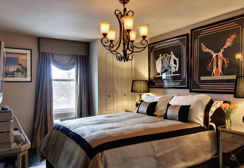 спальня в стиле арт деко фото интерьер