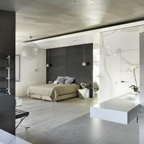спальня в стиле хай тек декор идеи