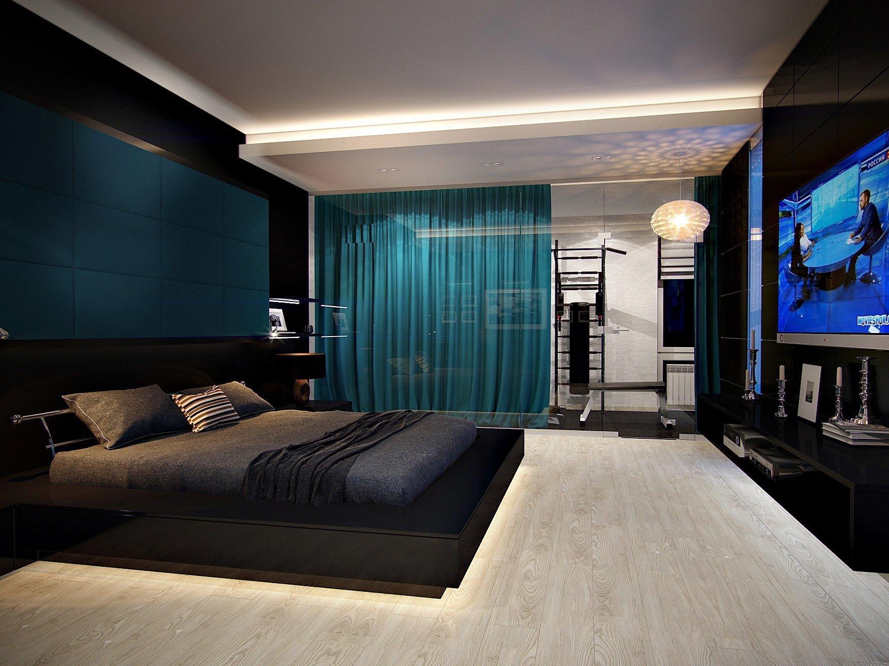 спальня в стиле хай тек дизайн фото