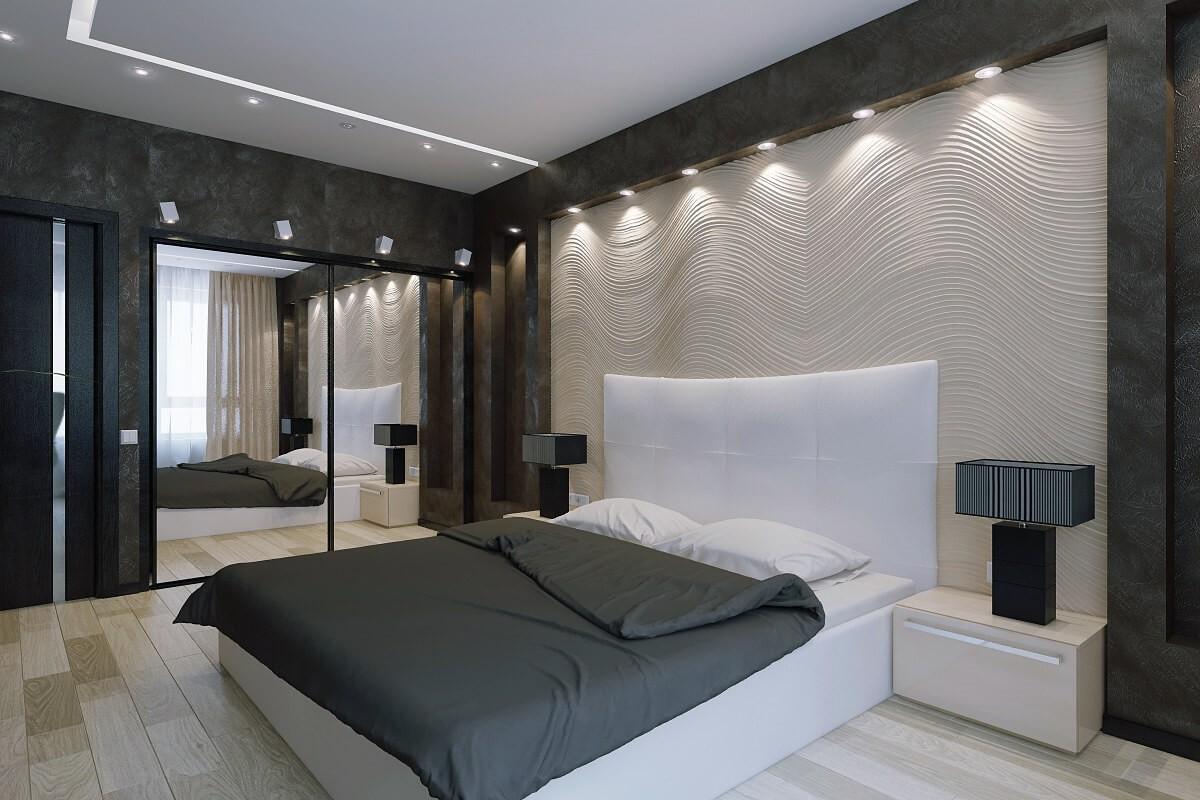 спальня в стиле хай тек дизайн идеи