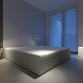 спальня в стиле хай тек дизайн интерьера