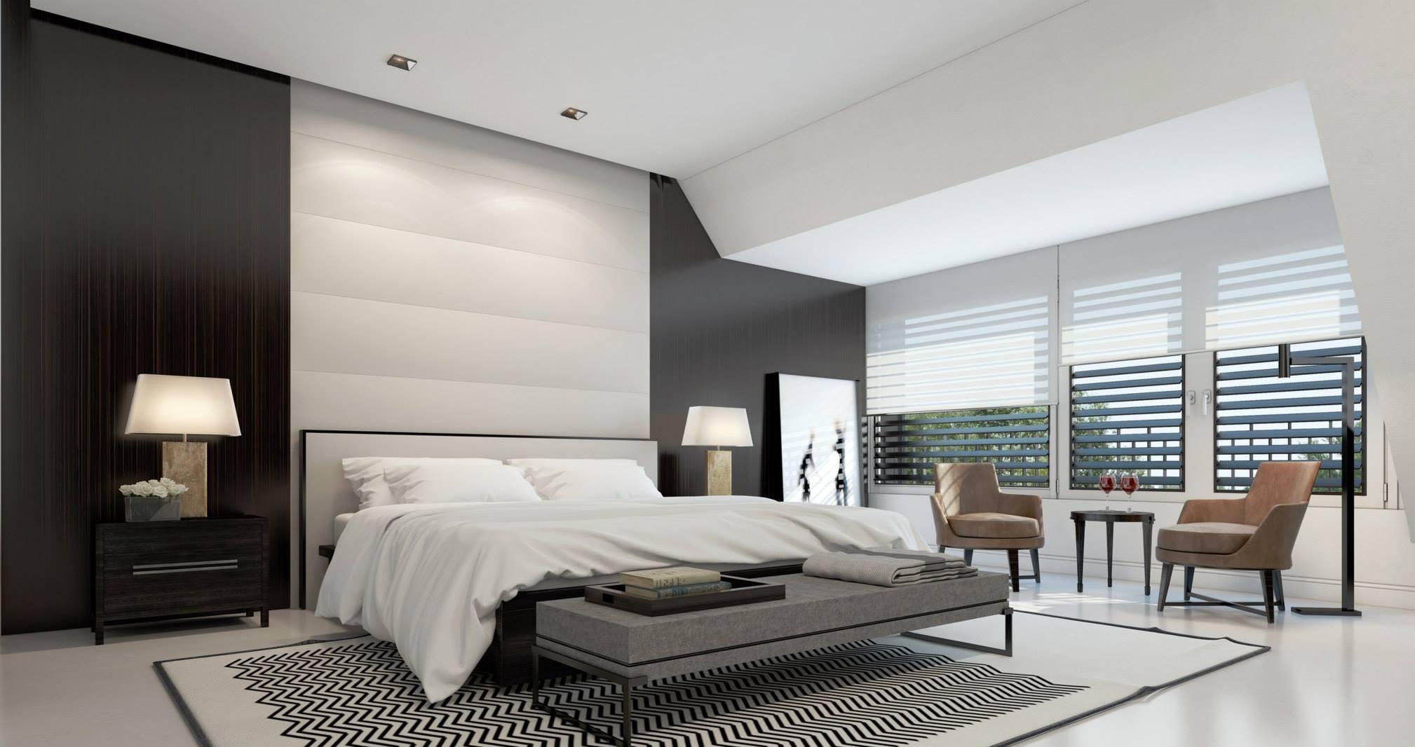 спальня в стиле хай тек дизайн