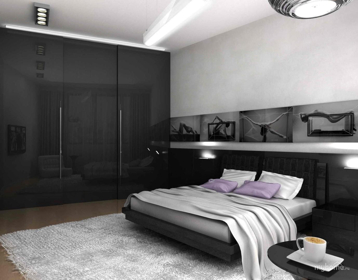 спальня в стиле хай тек фото дизайна
