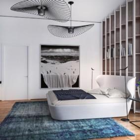 спальня в стиле хай тек фото интерьера