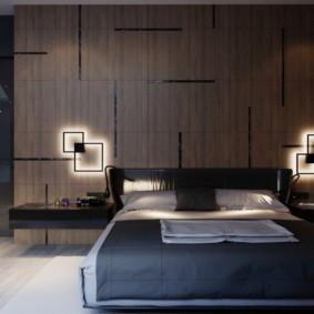 спальня в стиле хай тек фото оформления