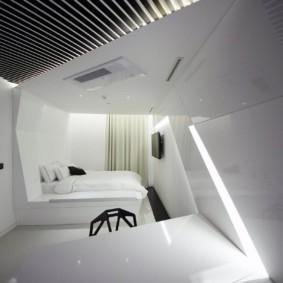 спальня в стиле хай тек идеи интерьер