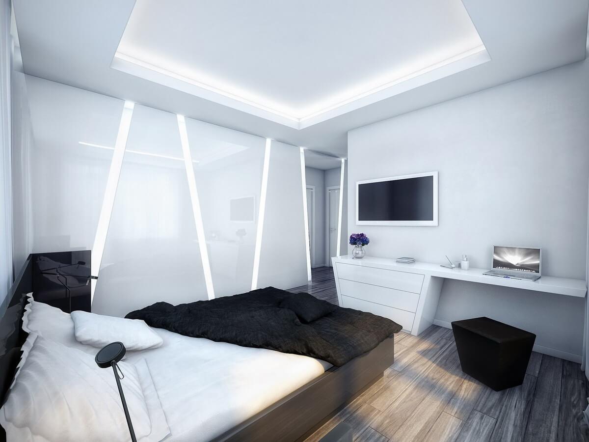 спальня в стиле хай тек идеи видов