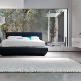 спальня в стиле хай тек интерьер