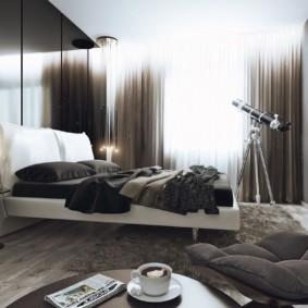 спальня в стиле хай тек интерьер фото