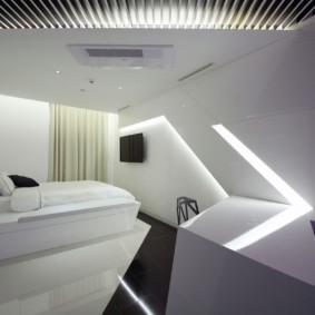 спальня в стиле хай тек варианты идеи