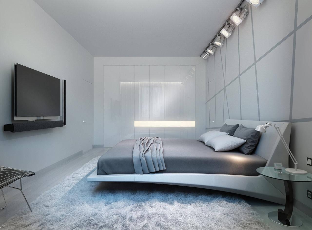 спальня в стиле хай тек варианты
