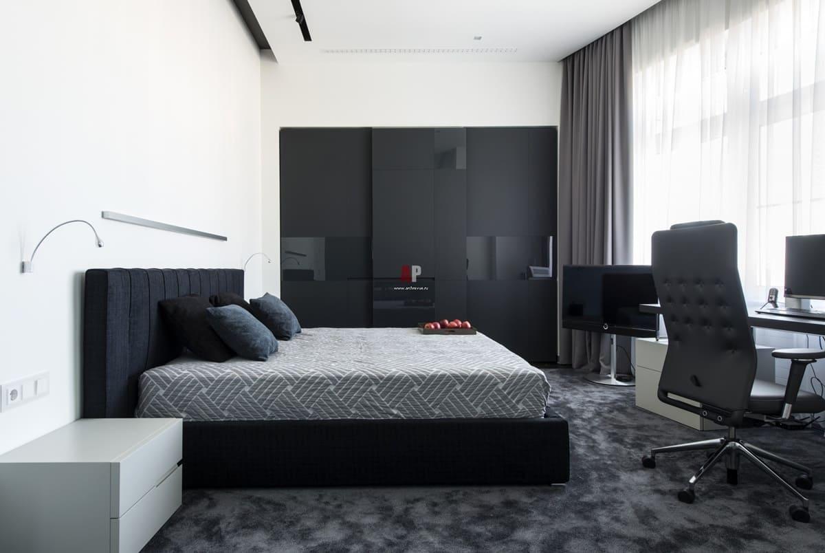 спальня в стиле минимализм декор
