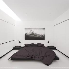 спальня в стиле минимализм фото декора