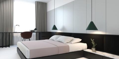 спальня в стиле минимализм фото интерьер