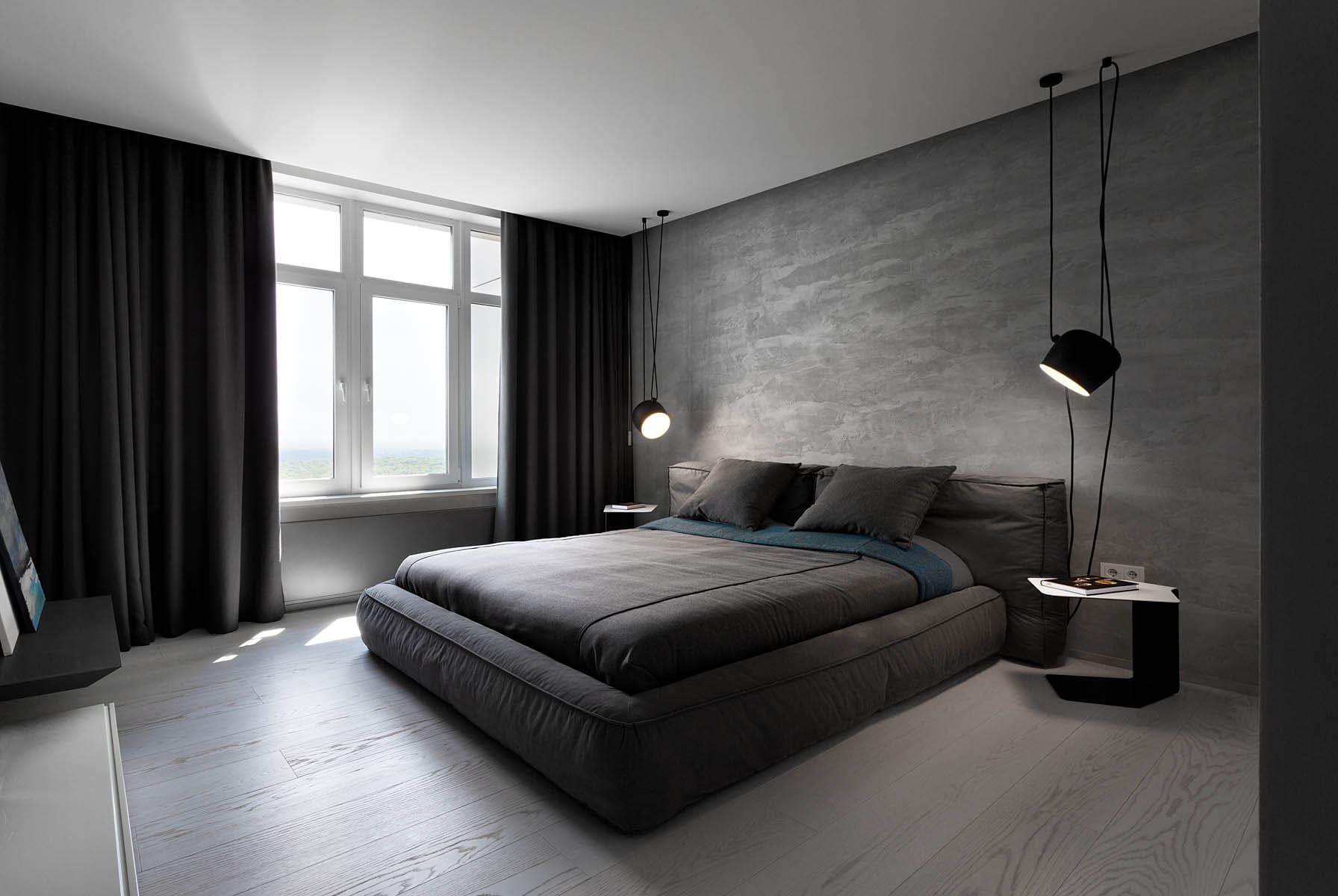 спальня в стиле минимализм фото видов