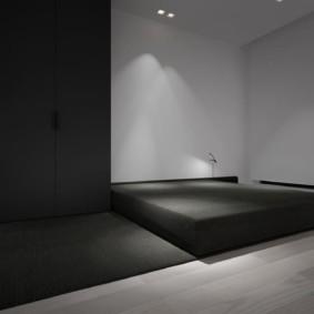спальня в стиле минимализм интерьер