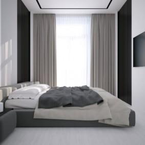 спальня в стиле минимализм интерьер фото