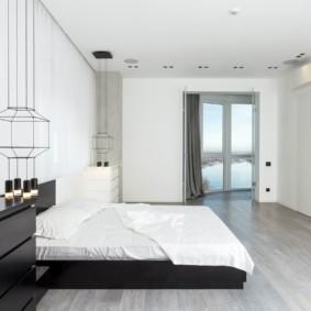 спальня в стиле минимализм варианты фото