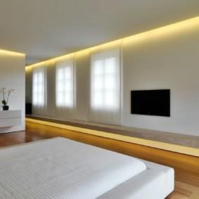 спальня в стиле минимализм виды декора