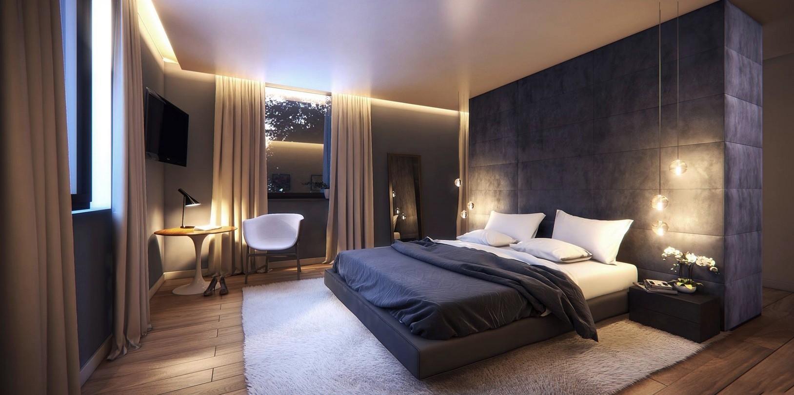 спальня в стиле модерн фото декор