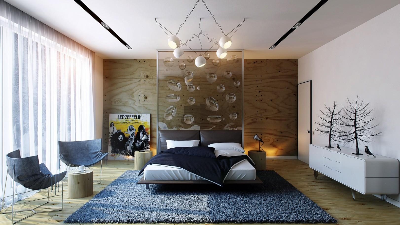 спальня в стиле модерн фото декора