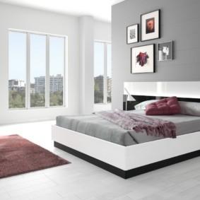 спальня в стиле модерн оформление