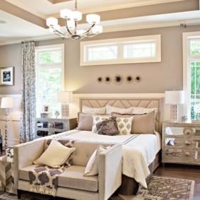 спальня в стиле модерн виды