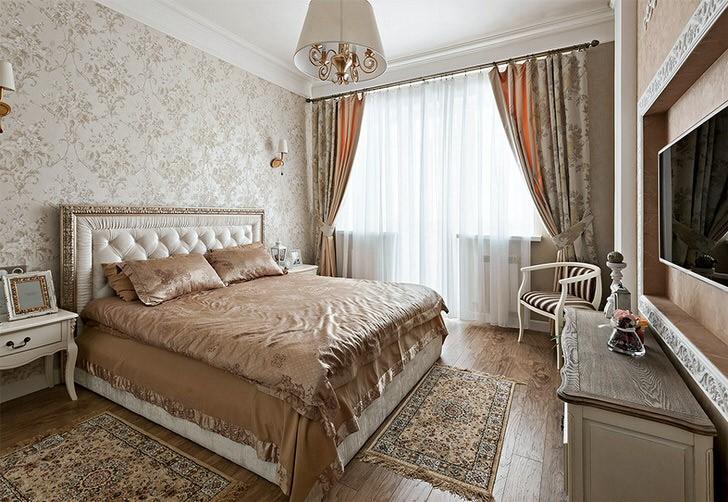 спальня в стиле неоклассика декор