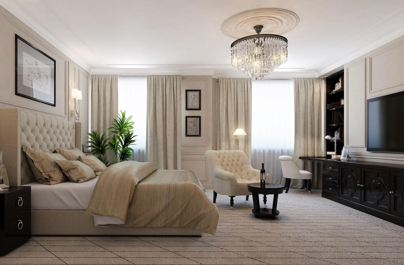 спальня в стиле неоклассика варианты фото