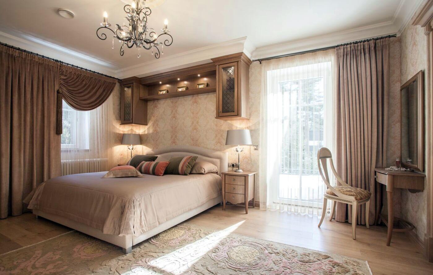 спальня в стиле неоклассика виды